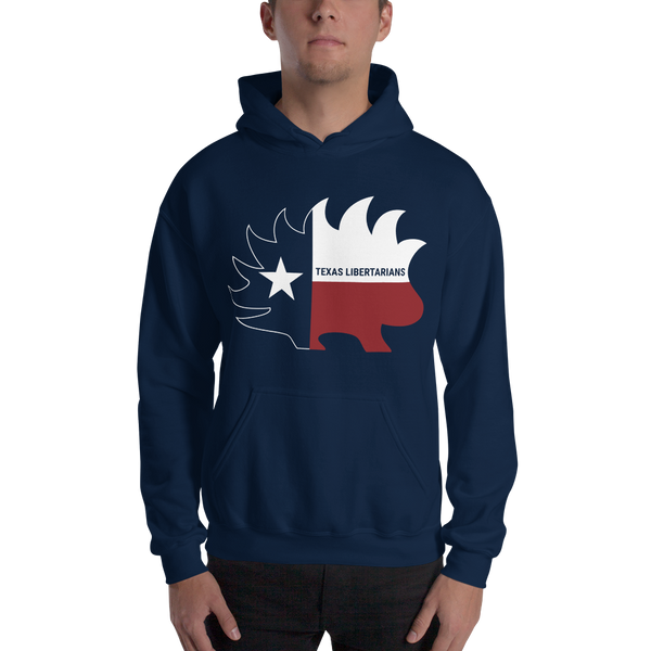 Texas Libertarians Porcupine Texas Hooded Sweatshirt