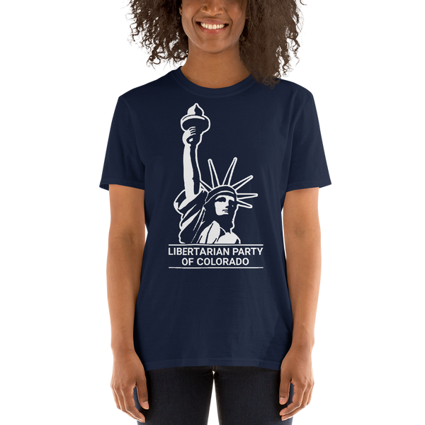 Colorado LP Classical Statue Logo T Shirt Blue