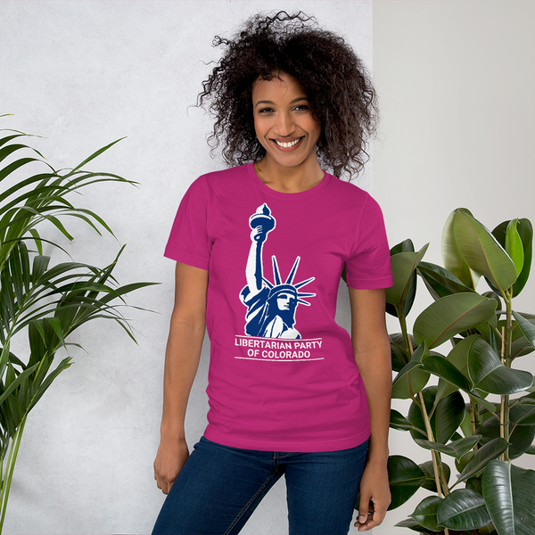 Colorado LP Classical Statue Logo T Shirt Hot Pink