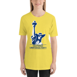 California LP Classical Statue Hat Logo T-Shirt