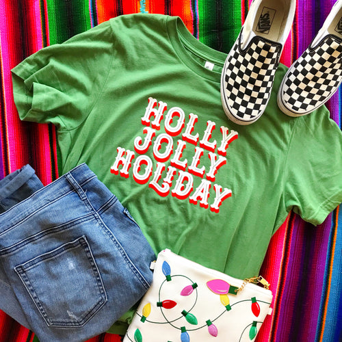 Holly Jolly Holiday Adult Tee