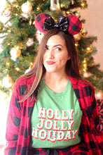Load image into Gallery viewer, Holly Jolly Holiday Adult Tee