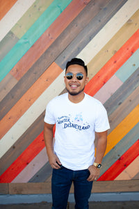 Walking in a Winter Disneyland Adult White Tee