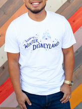 Load image into Gallery viewer, Walking in a Winter Disneyland Adult White Tee
