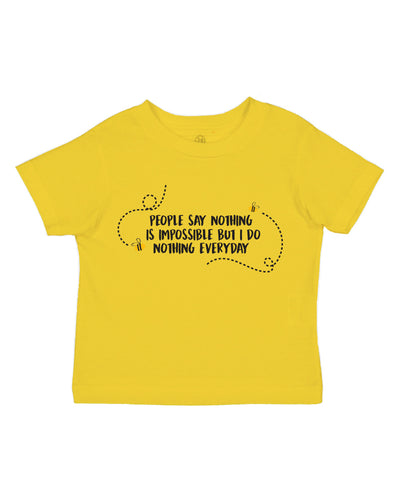 Nothing is Impossible Toddler Tee