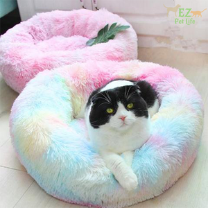 Marshmallow-Bed-Rainbow-for-cat-EZ-Pet-Life