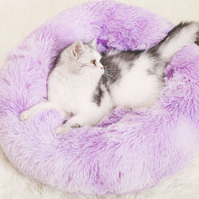 Load image into Gallery viewer, cat-bed-rainbow-purple-marshmallow-bed-for-cat
