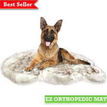 Load image into Gallery viewer, faux-fur-mat-orthopedic-memory-foam-for-dog-and-cat-ez-pet-life