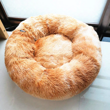 Load image into Gallery viewer, pet-bed-rainbow-orange-marshmallow-bed-for-dog