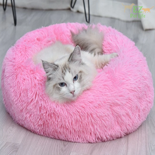 Load image into Gallery viewer, pink-marshmallow-cat-bed-ez-pet-life
