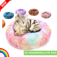 Load image into Gallery viewer, rainbow-line-marshmallow-cat-bed-ez-pet-life