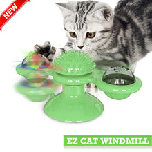 Load image into Gallery viewer, windmill-toy-for-cat-green-ez-pet-life