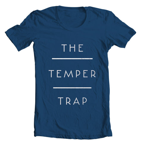 The Temper Trap (Logo) Navy T-Shirt