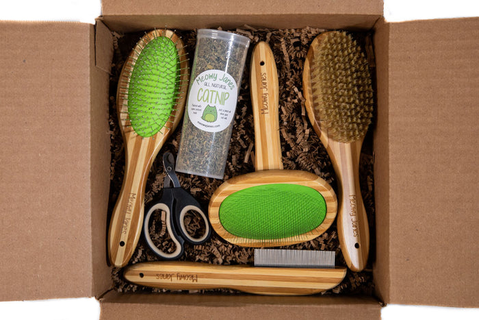 Long Hair Cat Grooming Set - Meowy Janes