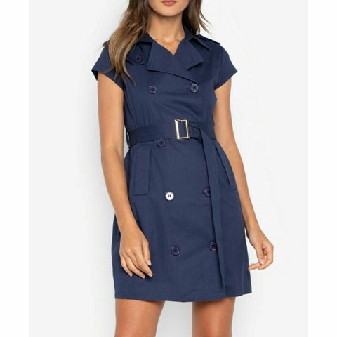 Krizia Double Breasted Trench Dress