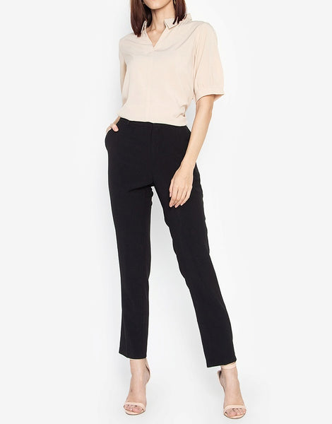 Collared Quarter Sleeves Blouse
