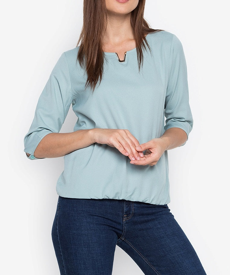 3/4 Blouse with V-detail