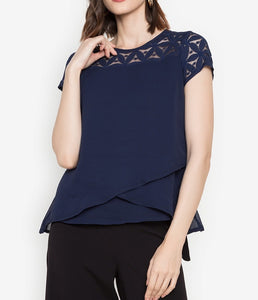 Lace Combination Layered Blouse