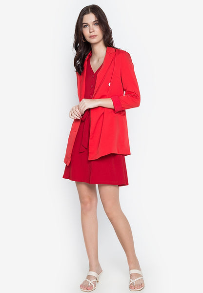 Button Down Textured Shirt Dress