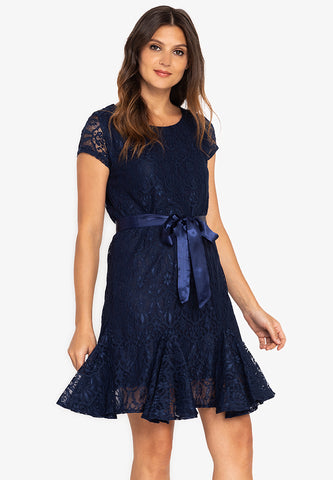 Krizia Lace Special Hem Dress