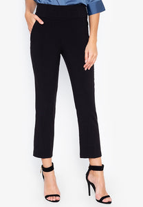 Highwaist Detail Straight Cut Pants