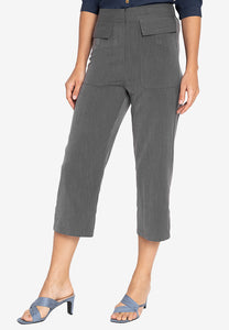 Krizia Front Pocket Illusion Pants (Gartered Waist)