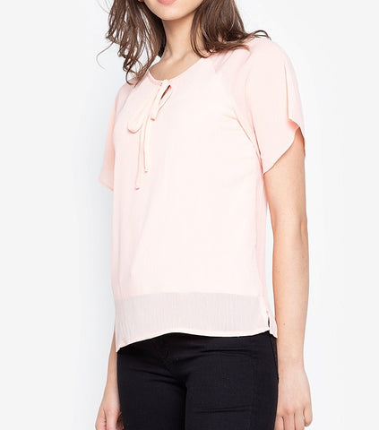 Tie Front Flowy Blouse