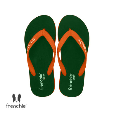 (Stock Updated) Frenchie Sandal Jepit Pria Cozy Orange/Olive/Orange SCM14