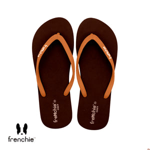 (Stock Update) Frenchie Sandal Jepit Wanita Cozy Orange/Brown/Orange SCW07