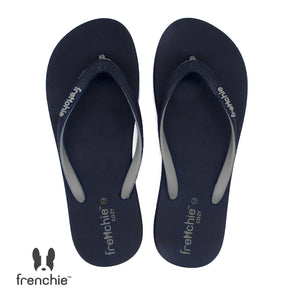 (Stock Update) Frenchie Sandal Jepit Wanita Onyx Cozy Grey/Black/Grey SOC05