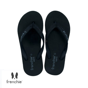 (Stock Updated) Frenchie Sandal Jepit Pria Onyx Cozy Black/Grey SOM03