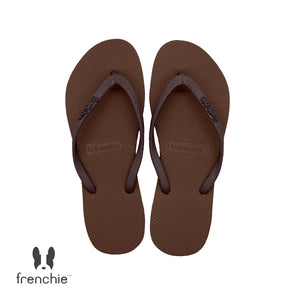 (Stock Updated) Frenchie Sandal Jepit Wanita Slim Warm Lux/Brown SSL07