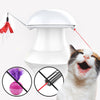 It Combines both cat feather toy with automatic cat chaser toy