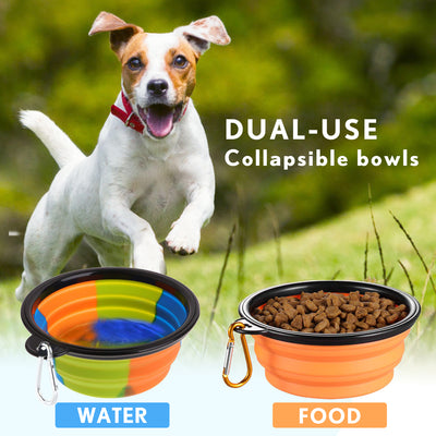 Water Bottle for Dogs with Dog Bowls, BPA Free, 18 OZ