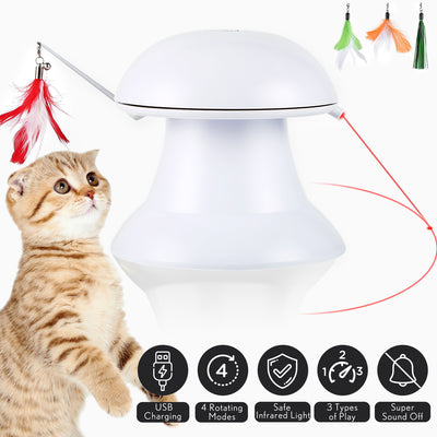 2 in 1 Automatic Cat Toy