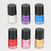 LESOTC Dog Nail Polish Set,  Natural Safe Non-Toxic Water-based, 6 Color Set (Pink, Purple, Red, Gold, Blue, Silver)