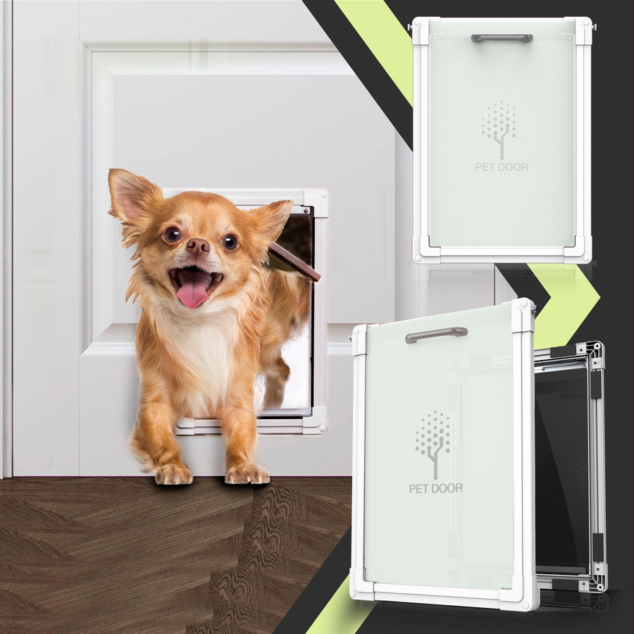 Plastic Freedom Pet Door with Aluminum Lining, Soft Flap (Large)