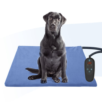 PetNF Large Pet Heating Pad for Dogs Cats, Pet Heating Pad with Timer, Electric Pet Bed Warmer, Waterproof Heating Pad for Dogs Cat
