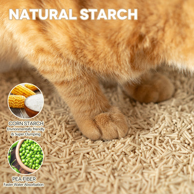 PetNF&FreshClaw Natural Tofu Cat Litter, Eco-Friendly Plant Cat Litter, Dust-Free Fast Clumping, 10 Lbs x 2 Bags