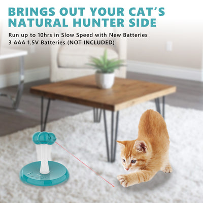 Newest Interactive Tumbler Laser Toys for Cat,4 Speed Modes,3 Timer Settings,FDA Approval