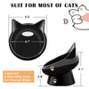 Cat Bowl,Raised Cat Food Bowls Anti Vomiting,Tilted Elevated Cat Bowl,Ceramic Pet Food Bowl for Flat-Faced Cats,Small Dogs,Protect Pet's Spine,Dishwasher Safe,Black and White, 2pcs