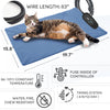 PetNF Large Dog Cat Heating Pad, Pet Heating Pad with Timer, Electric Pet Bed Warmer, Waterproof Heating Pad for Dogs Cat