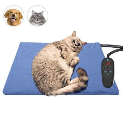PetNF Medium Pet Heating Pad for Dogs Cats, Pet Heating Pad with Timer, Electric Pet Bed Warmer, Waterproof Heating Pad for Dogs Cat