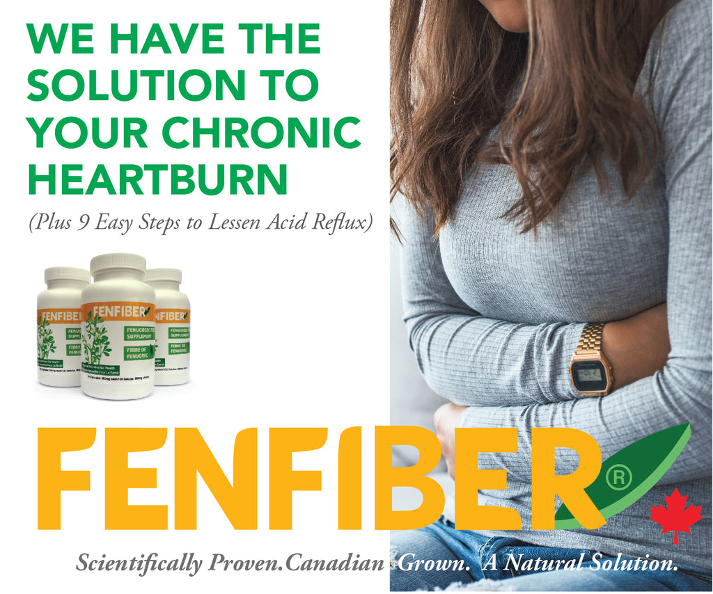Heartburn, Acid Reflux, Gerd Natural Supplement Remedy Fenfiber - Prevents chronic heartburn and bile reflux, learn how with Fenfiber