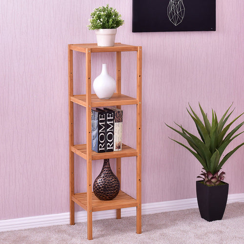 4-Tier Bamboo Storage Shelving Unit