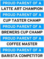 Proud Coffee Parent Bumper Stickers