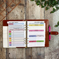 Grey & Pink Geometric - Food Diary Organiser