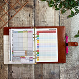 Black Padded Panther - Food Diary Organiser