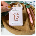 Coffee Cup - Rose Gold - Cute Paperclip
