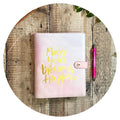Gold Foil Dreams - Food Diary Organiser
